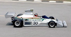 Copersucar-Fittipaldi FD04: Emerson qualified 5th on his debut for the family team in 1976. This was the last Fittipaldi to be built in Brazil.