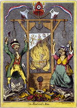 Cartoon attacking the excesses of the Revolution as symbolised by the guillotine