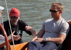 Craig with producer Michael G. Wilson in Venice during a break while filming Casino Royale, June 2006