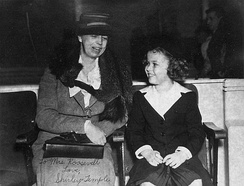 Roosevelt with Shirley Temple in 1938