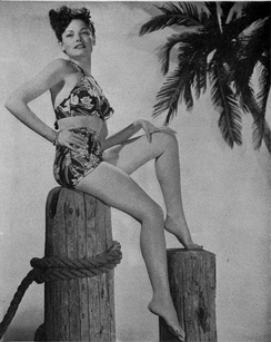 Pin-up photo in World War II magazine Brief