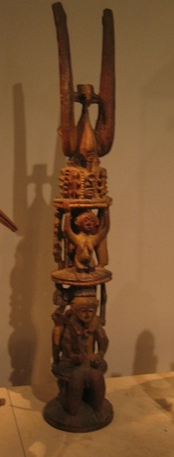 Wooden sculpture of Ikenga, an Alusi, in the British Museum