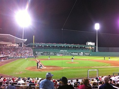 A spring training game at JetBlue Park