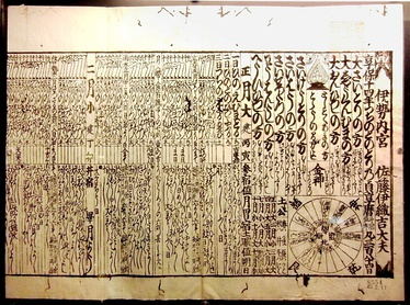 1729 calendar, which used the Jōkyō calendar procedure, published by Ise Grand Shrine