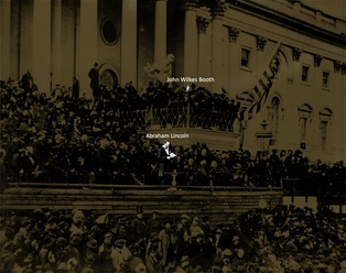 Booth was present as Lincoln delivered his second inaugural address a month before the assassination.