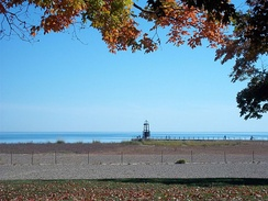 Loyola Park breakwater and nature area