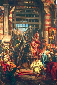 Bolesław I entering conquered Kiev. Painting by Jan Matejko