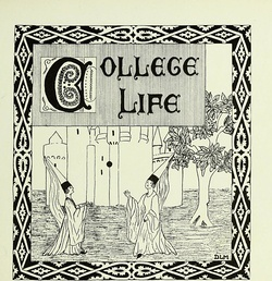 College life as depicted by the college's newspaper in 1923.