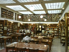 Inside the municipal library.