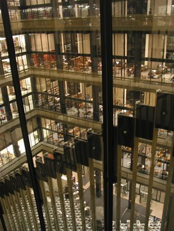 Interior of the Elmer Holmes Bobst Library at New York University