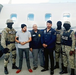 The nephews of President Nicolás Maduro, Efraín Antonio Campo Flores and Francisco Flores de Freitas, after their arrest by the DEA on 10 November 2015.