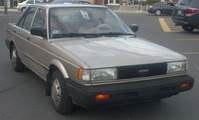 1989–1990 Nissan Sentra sedan (North America)