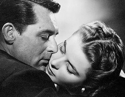 Cary Grant and Ingrid Bergman in Notorious (1946). RKO made over $1 million profit on the coproduction with David O. Selznick's Vanguard Films.[98]