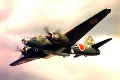 721st Kōkūtai G4M2e bomber carrying an Ohka (image of a plastic model)