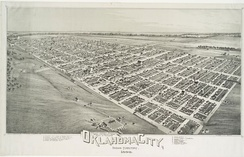 Lithograph of Oklahoma City from 1890