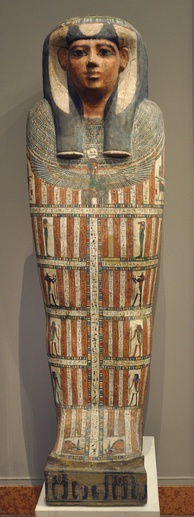 Sarcophagus of the Egyptian priestess Iset-en-kheb, 25th–26th dynasty (7th–6th century BC)