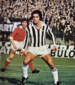 Gentile playing for Juventus in 1975