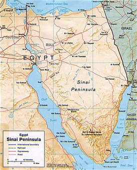 Map of the Sinai Peninsula