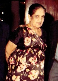 Sri Lankan stateswoman and modern world's first female head of government Sirimavo Bandaranaike in a kandyan style sari or osaria