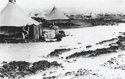 Early living conditions of the 460th Bombardment Group at Spinazzola