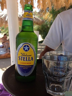 Stella, a lager brewed by Al Ahram Beverages Company