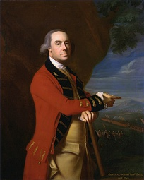 Portrait of the British commander-in-chief, Sir Thomas Gage in dress uniform.