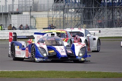 Toyota TS030 Hybrid on its way to the third place in the 2013 FIA World Endurance Championship race