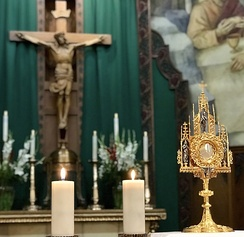 Transubstantiation – the Real Presence of Jesus in the Eucharistic Adoration at Saint Thomas Aquinas Cathedral in Reno, Nevada