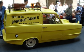 A replica of the Trotters' Reliant Regal