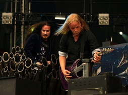 Tuomas Holopainen (left) and Emppu Vuorinen (right), two of the band's founding members.