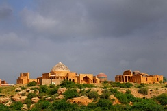 Makli Hill is one of the largest necropolises in the world.