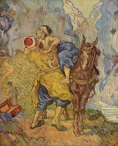 Vincent van Gogh, 1890. Kröller-Müller Museum. The Good Samaritan (after Delacroix).