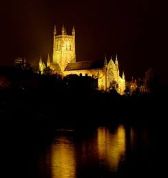 Worcester Cathedral overlooking the Severn