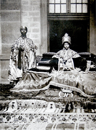 Empress Zewditu with one of her trusted priests