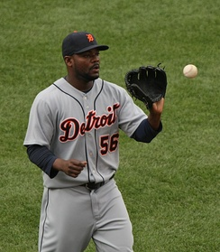 Rodney playing for the Detroit Tigers in 2009