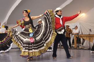 An example of folkloric dancing in Colombia.