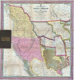 1846 map: Mexican Alta California (Upper California) in pink.