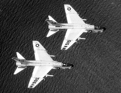 U.S. Navy A-7B Corsairs armed with Shrike anti-radiation missiles, 1969