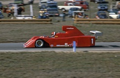 Al Holbert driving a VDS-001 in the revived Can-Am in 1982.