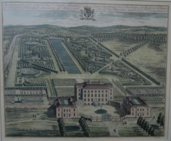 Stanhope's Chevening in an engraving published in 1719.