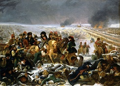 Napoleon on the field of Eylau
