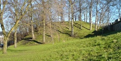 The remains of Baile Hill, the second motte-and-bailey castle built by William in York