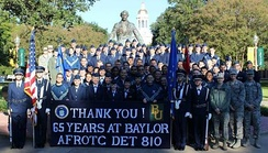Baylor University's Air Force ROTC program celebrated 65 years in 2013.