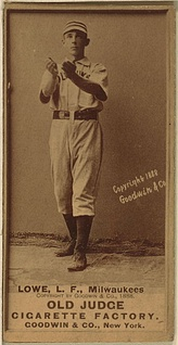 Lowe with the Milwaukee Brewers in 1888.