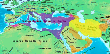 Byzantine and Sasanian Empires in 600 CE