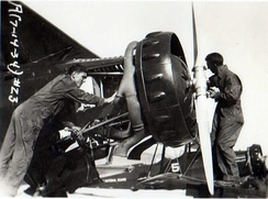 Maintenance on a Douglas O-38s from the 115th Observation Squadron