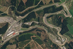 A satellite view of the modern circuit