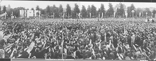 The NSB rally in Amsterdam where Seyss-Inquart and Mussert spoke about the necessity of invading the Soviet Union, 27 June 1941
