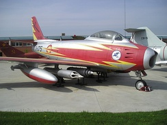 F-86 Spanish Air Army, Ember Patrol, Cuatro Vientos, Madrid