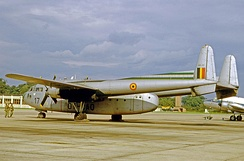 Fairchild C-119G of the Royal Belgian Air Force in 1965